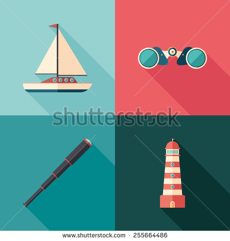 stock-vector-set-of-marine-flat-square-icons-with-long-shadows-255664486