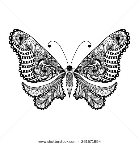 stock-vector-zentangle-stylized-black-butterfly-hand-drawn-vector-illustration-isolated-on-white-background-261571694