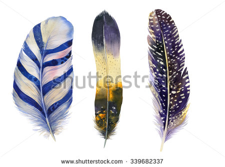 stock-photo-hand-drawn-watercolor-feather-vibrant-feather-set-boho-feather-style-illustration-isolated-on-339682337